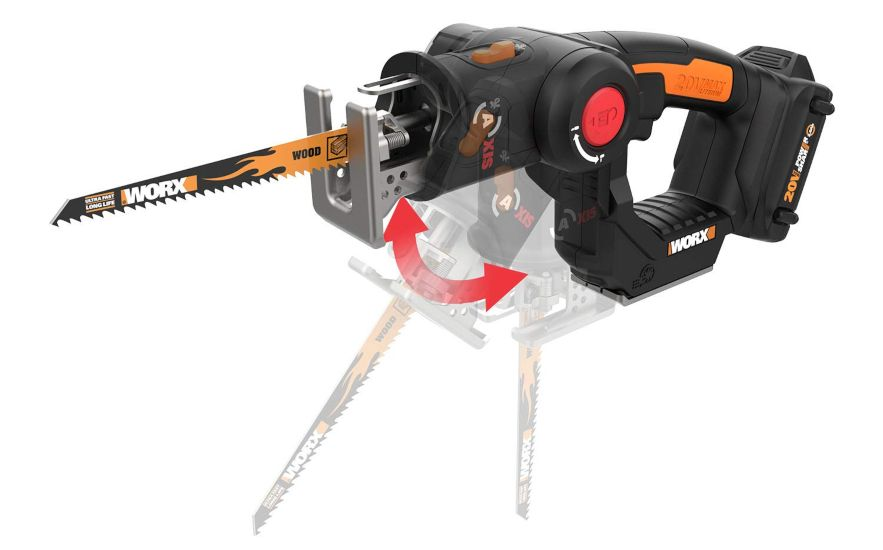 WORX WX550L 20V AXIS 2-in-1 Reciprocating Saw